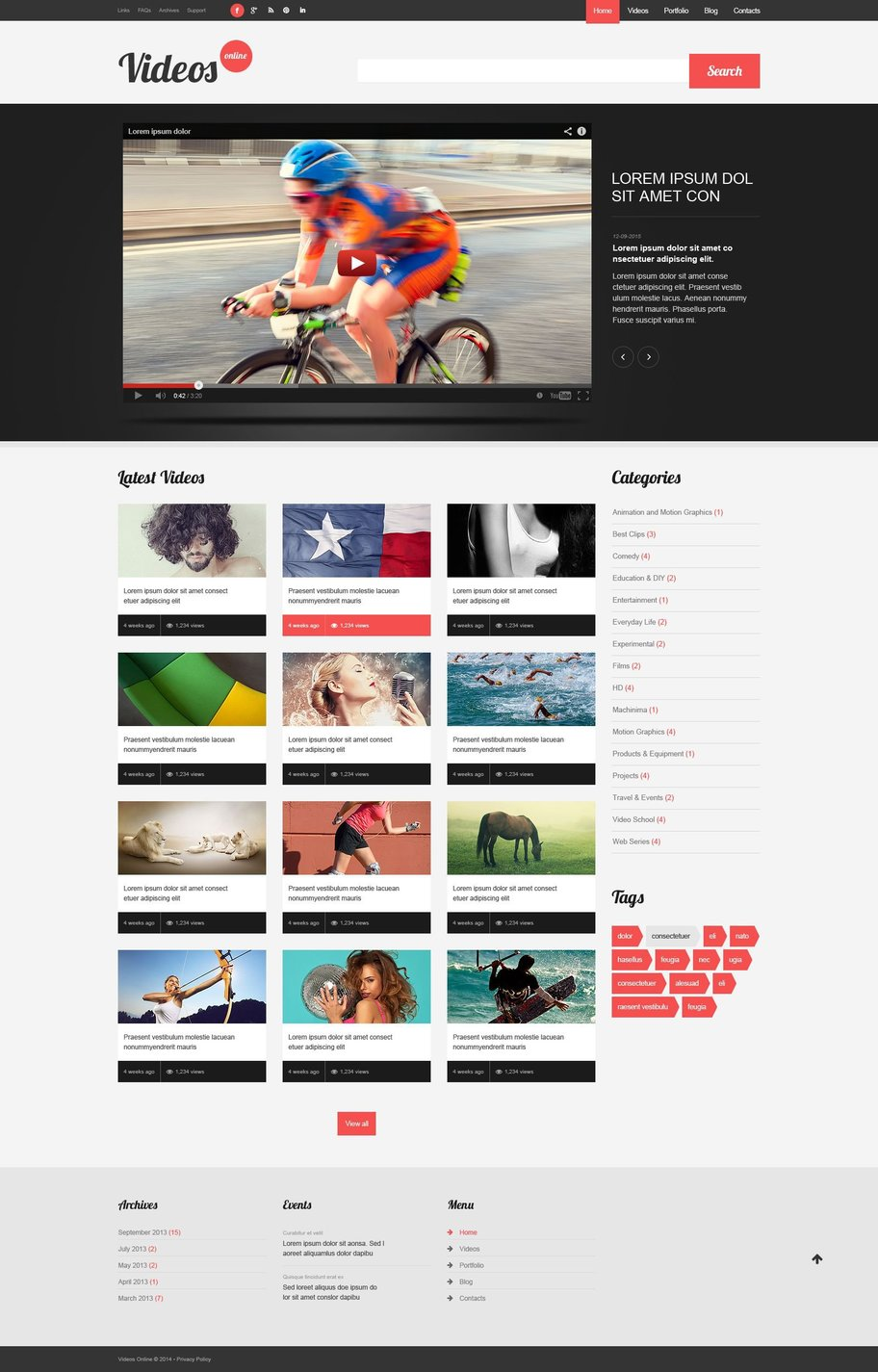 Video Website Templates - Weblium