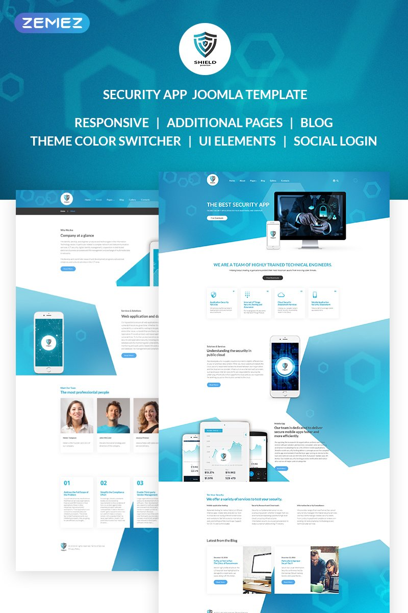 The Best Security App Bootstrap Joomla Template