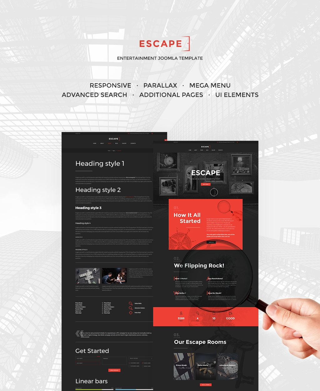 Escape Room Responsive Joomla Template