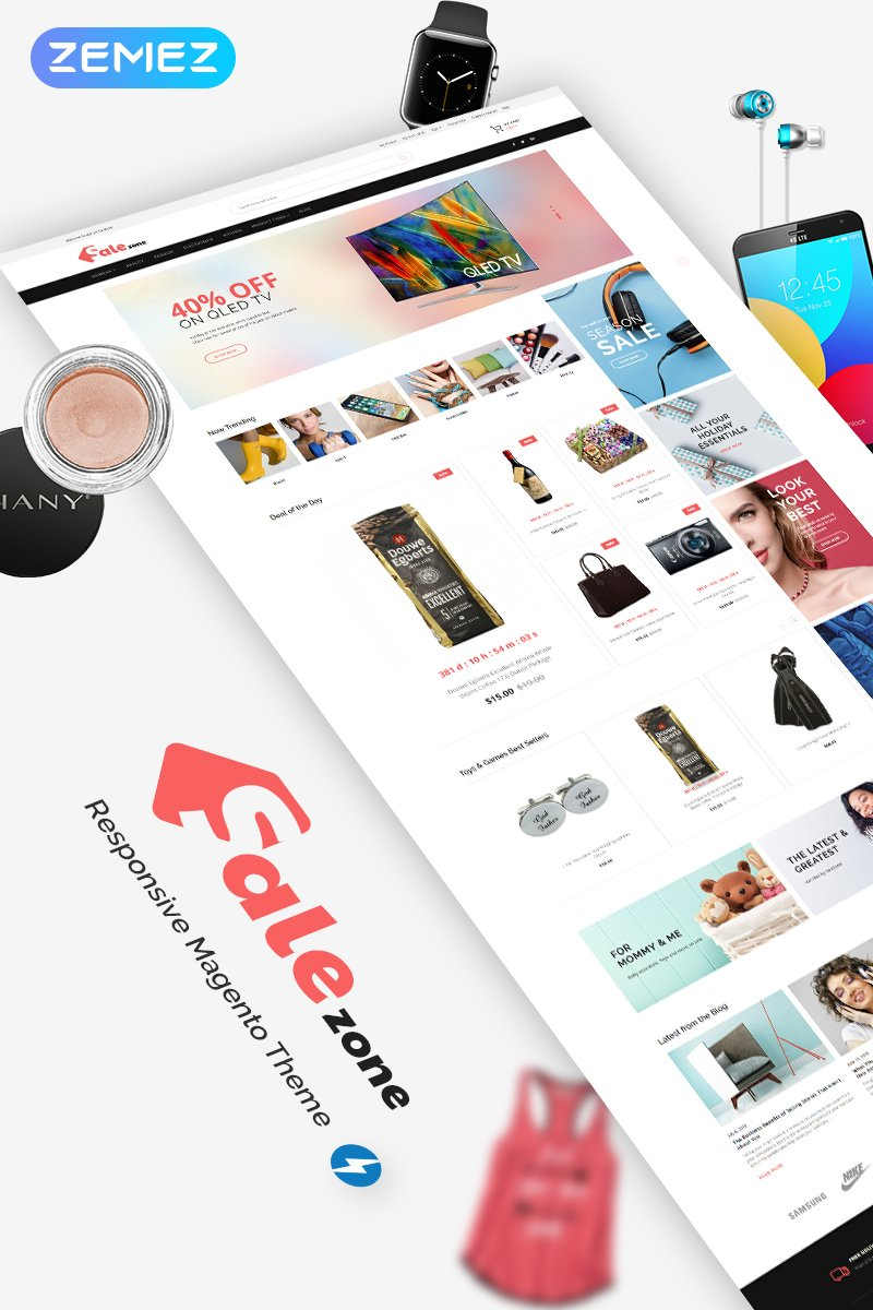 Wholesale Store Responsive Magento Template