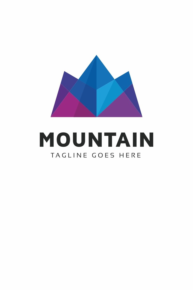 Mountain Polygon Logo Template