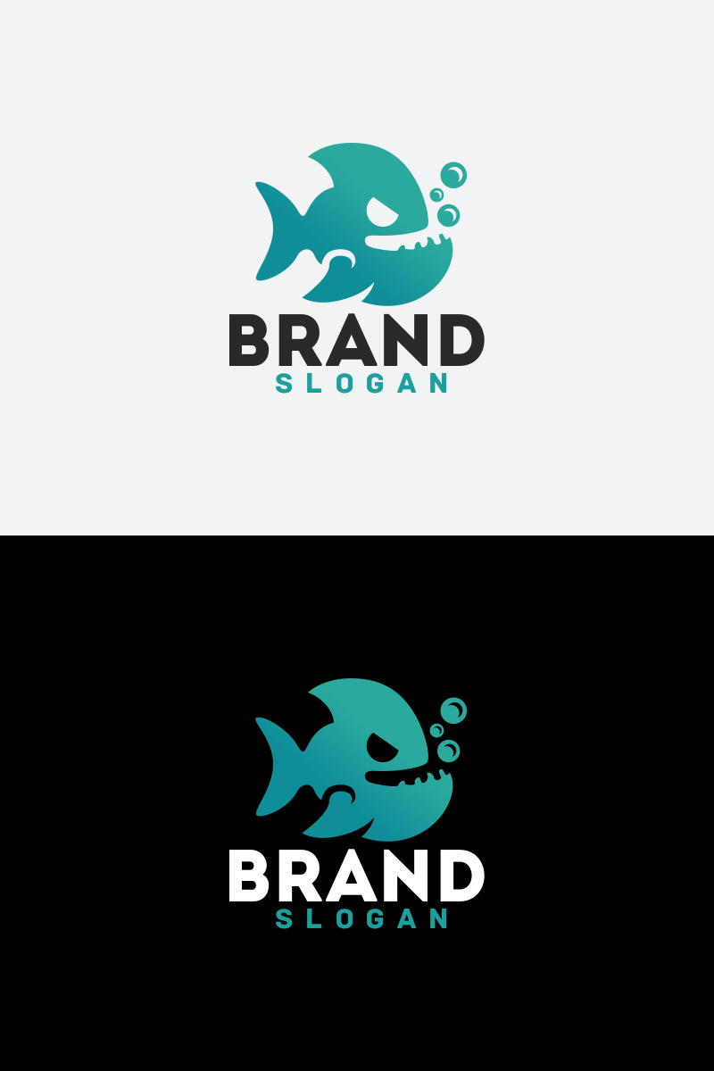 Wild Fish Logo Template
