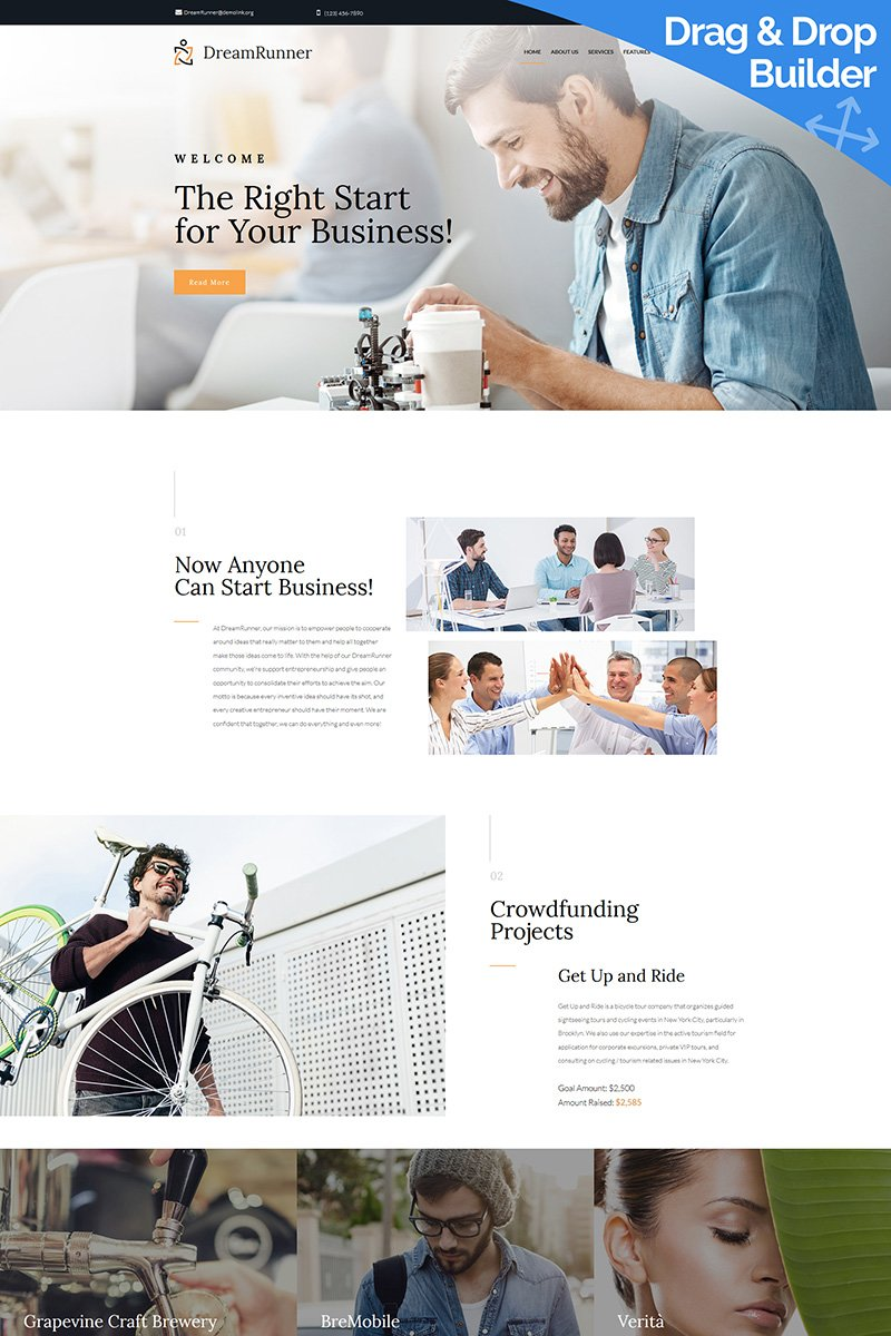Business Bureau Premium Moto CMS 3 Theme