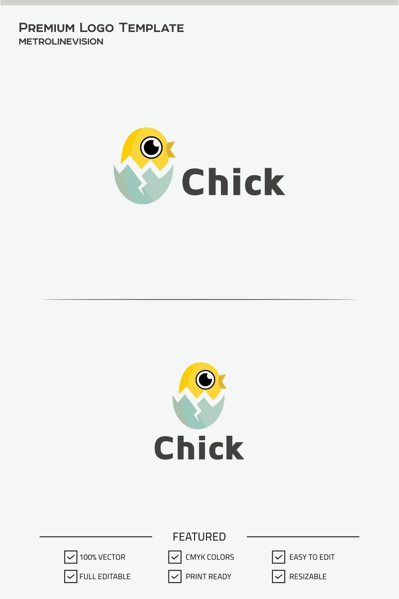 Chick Logo Template