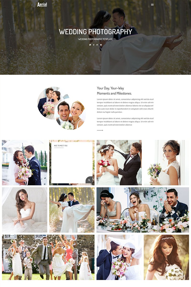 Wedding Photography Premium Website Theme