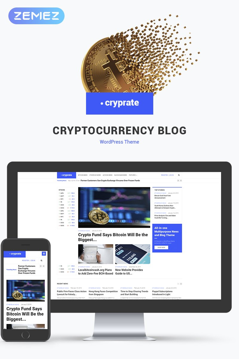 Cryptocurrency Blog Elementor WPML ready WordPress Template