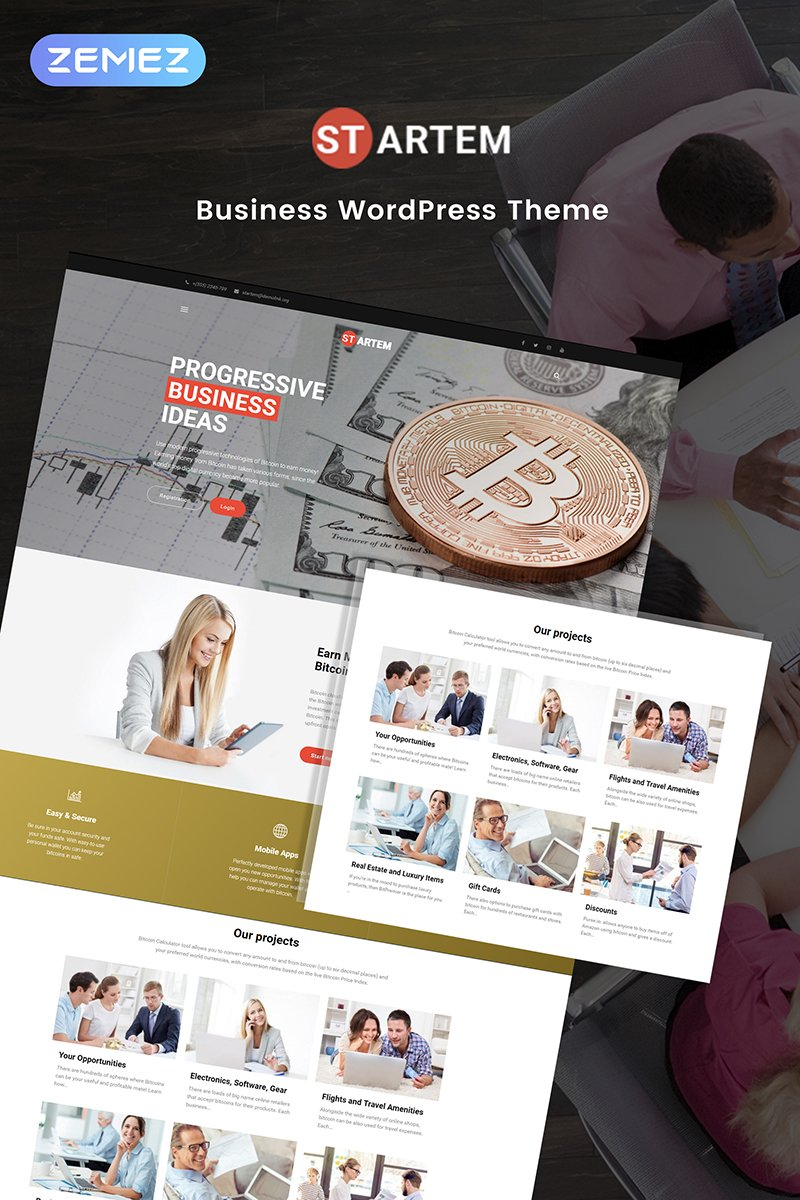 Cryptocurrency Business Pro Elementor WPML ready WordPress Template