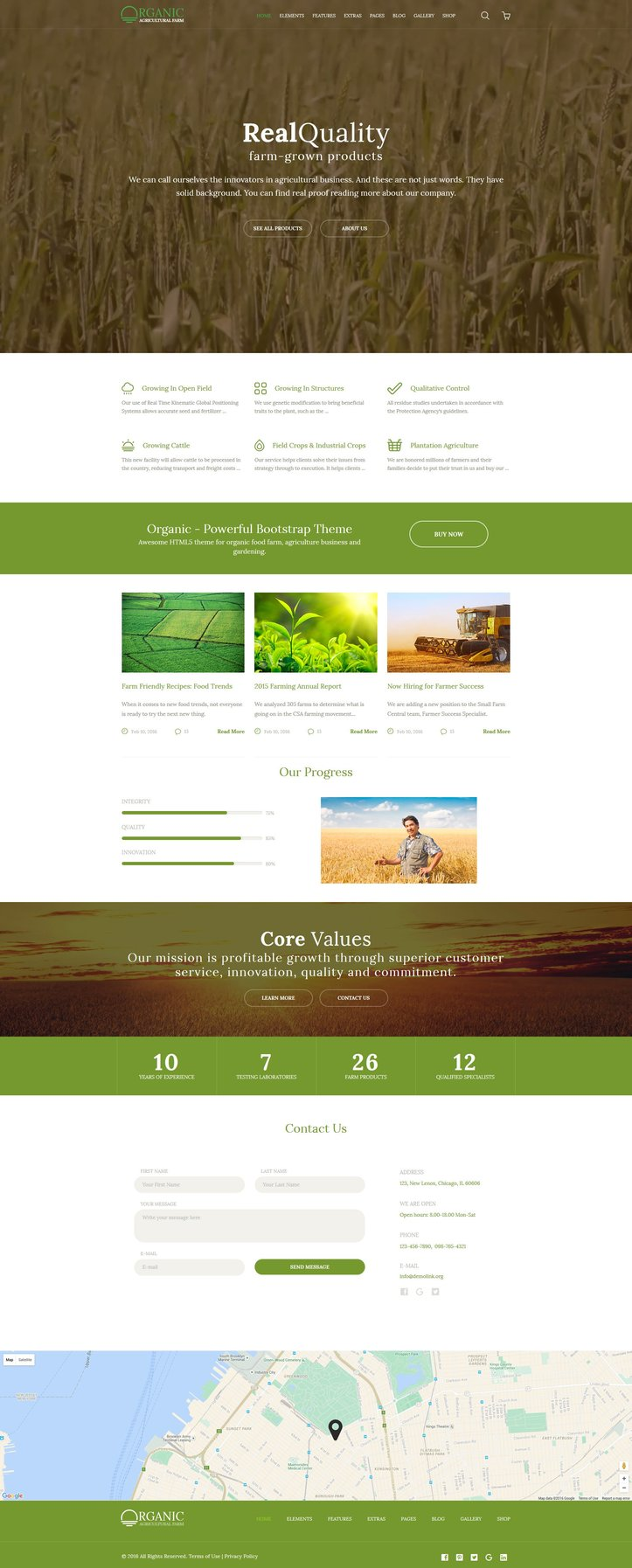 Agriculture Farm Multipurpose Responsive Website Template
