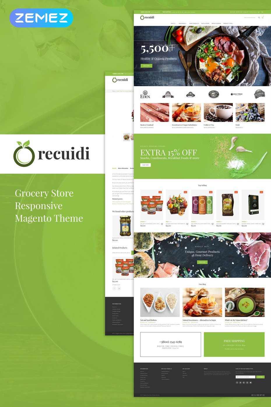 Healthy Food Store Responsive Magento Template