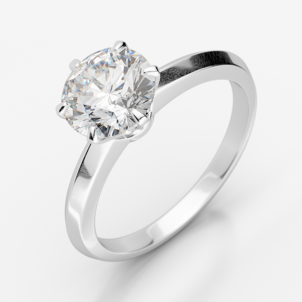 White Gold, Solitaire Ring, Diamond