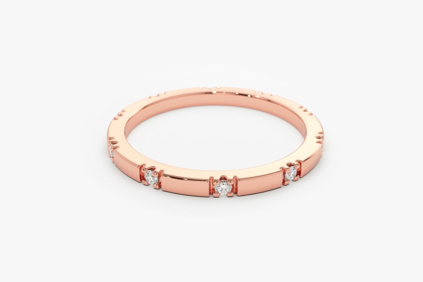 Rose gold, Diamonds, Eternity ring