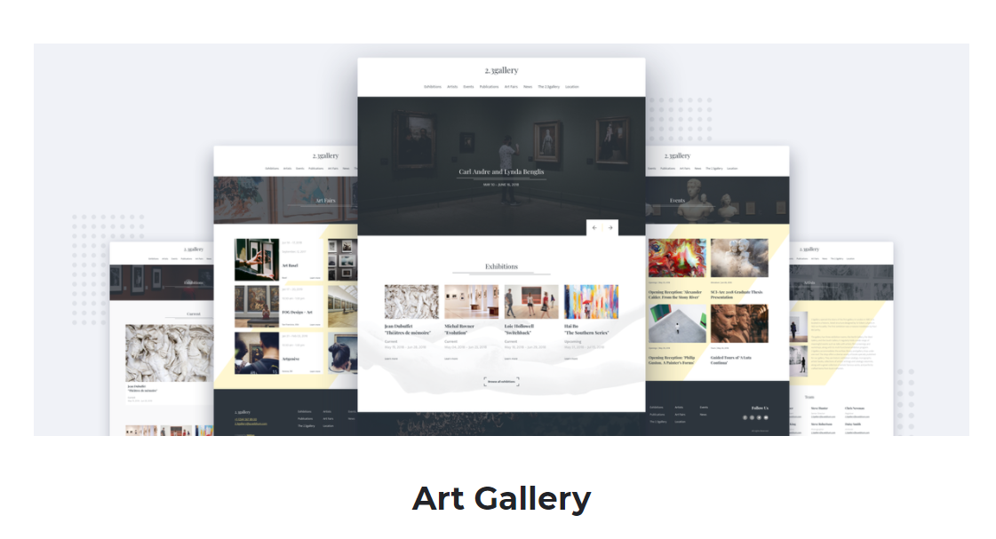 Art Gallery Website Templates