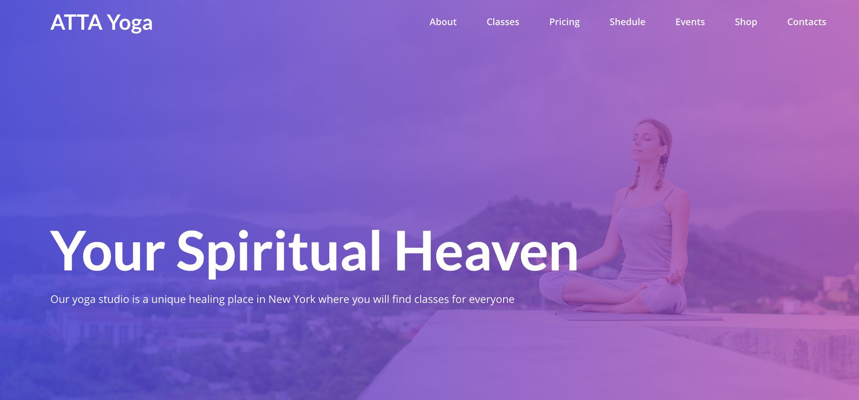 yoga website templates - weblium