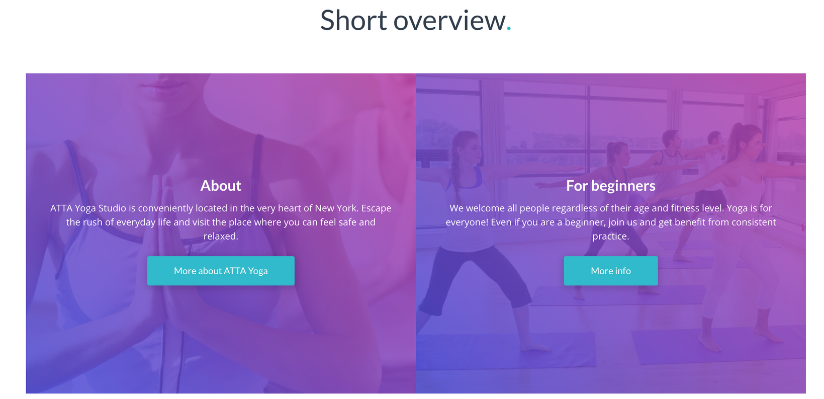 yoga website templates 2 - weblium ai