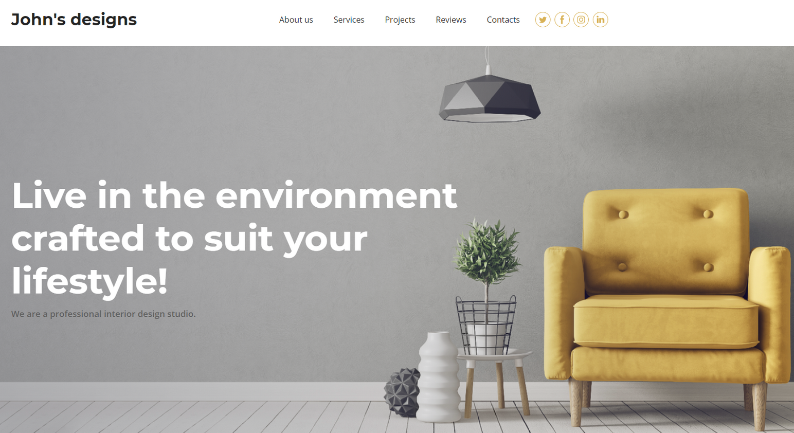 Interior Design Website Templates - Weblium