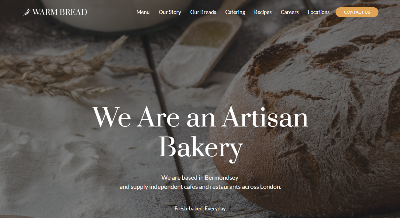 Bakery Template by Weblium