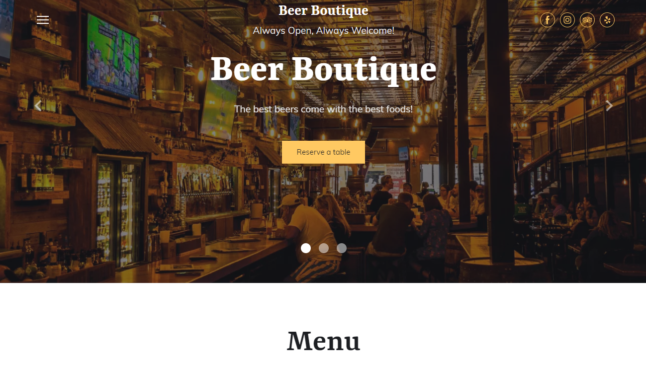 Beer Pub Template