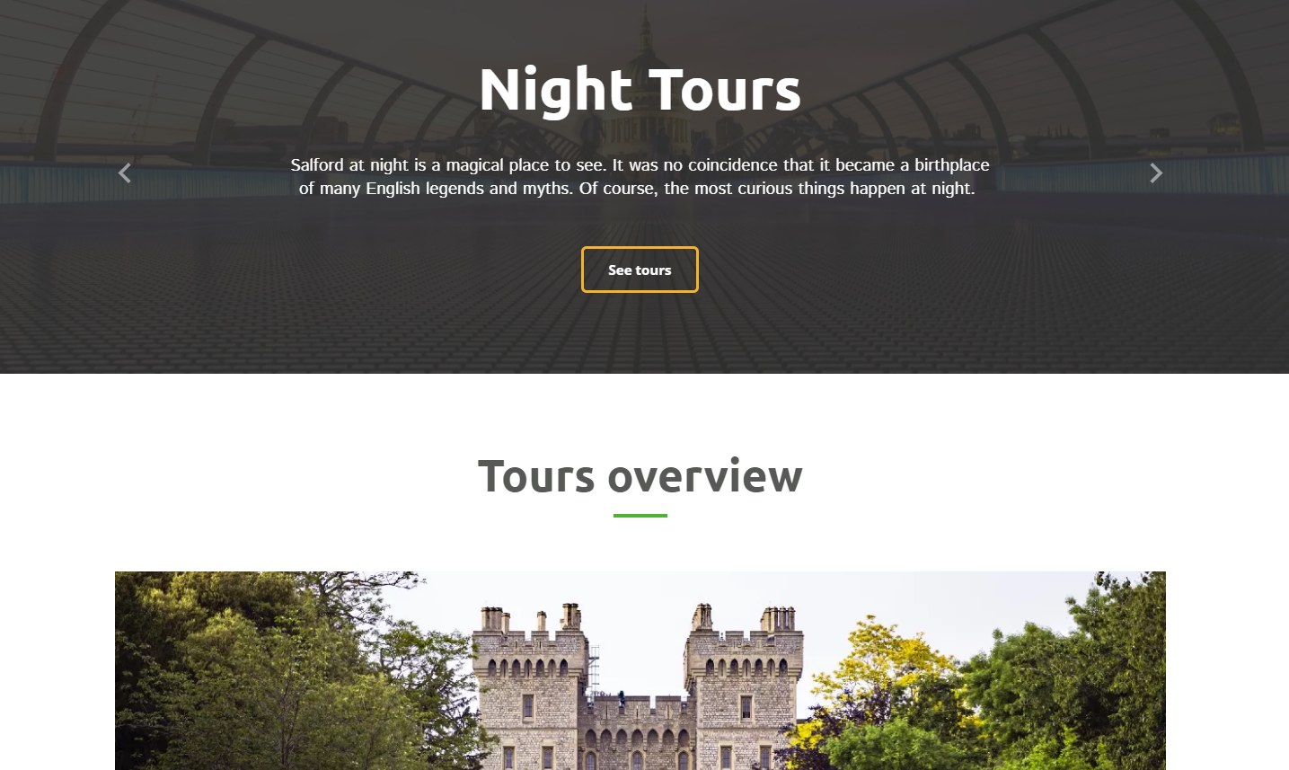 City Tours Website Templates - weblium