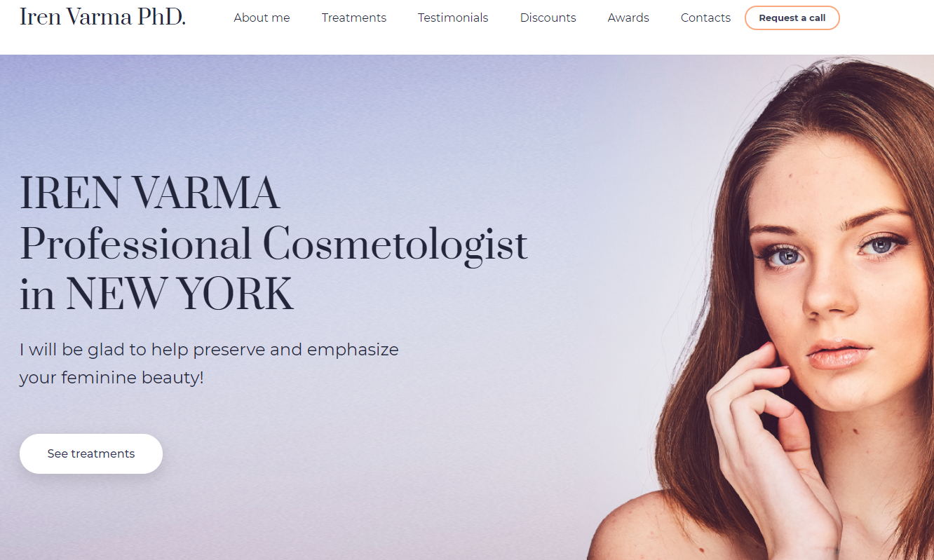 Cosmetologist Website Template - Weblium