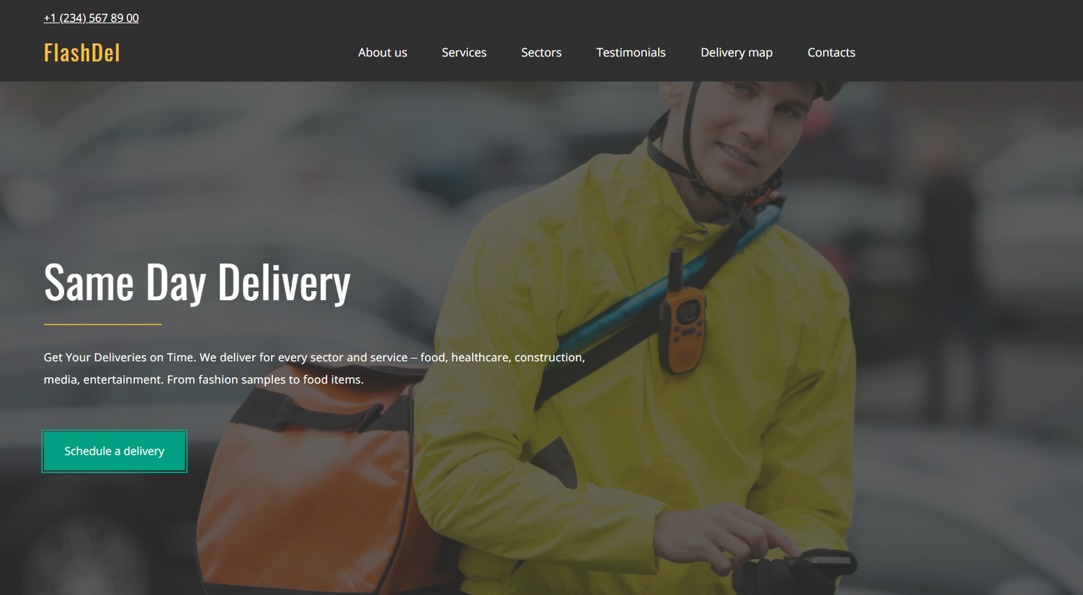 Courier Delivery Website Templates - Weblium