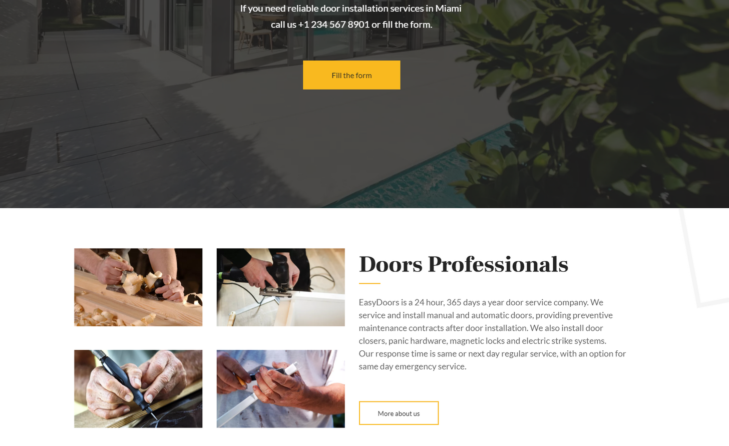 Doors Installation Website Template - Weblium