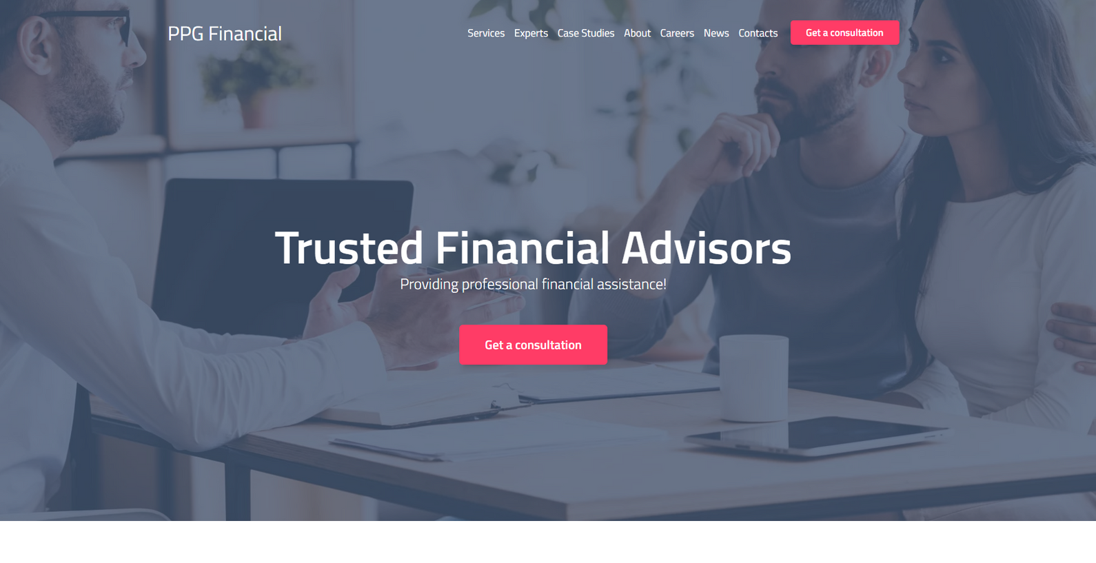 Financial Advisor Templates - Weblium