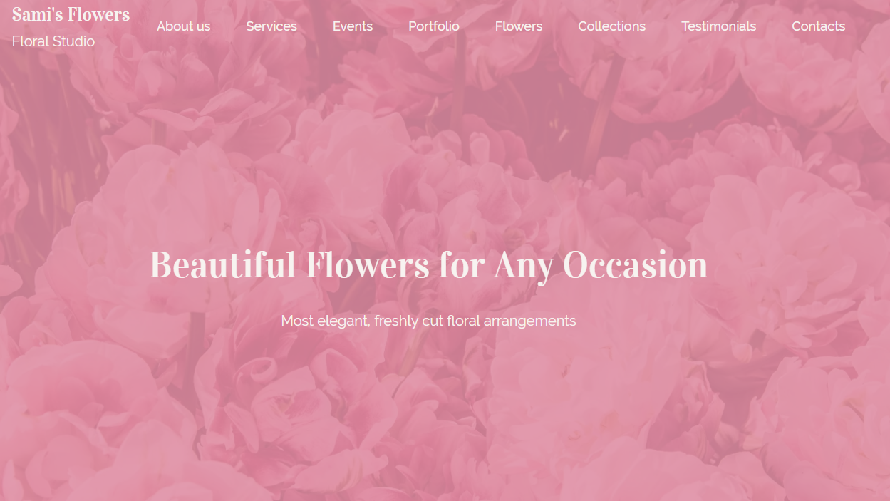 Floral Studio Website Templates - Weblium