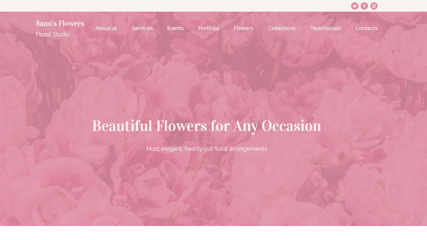 Floral Studio Website Template - Weblium
