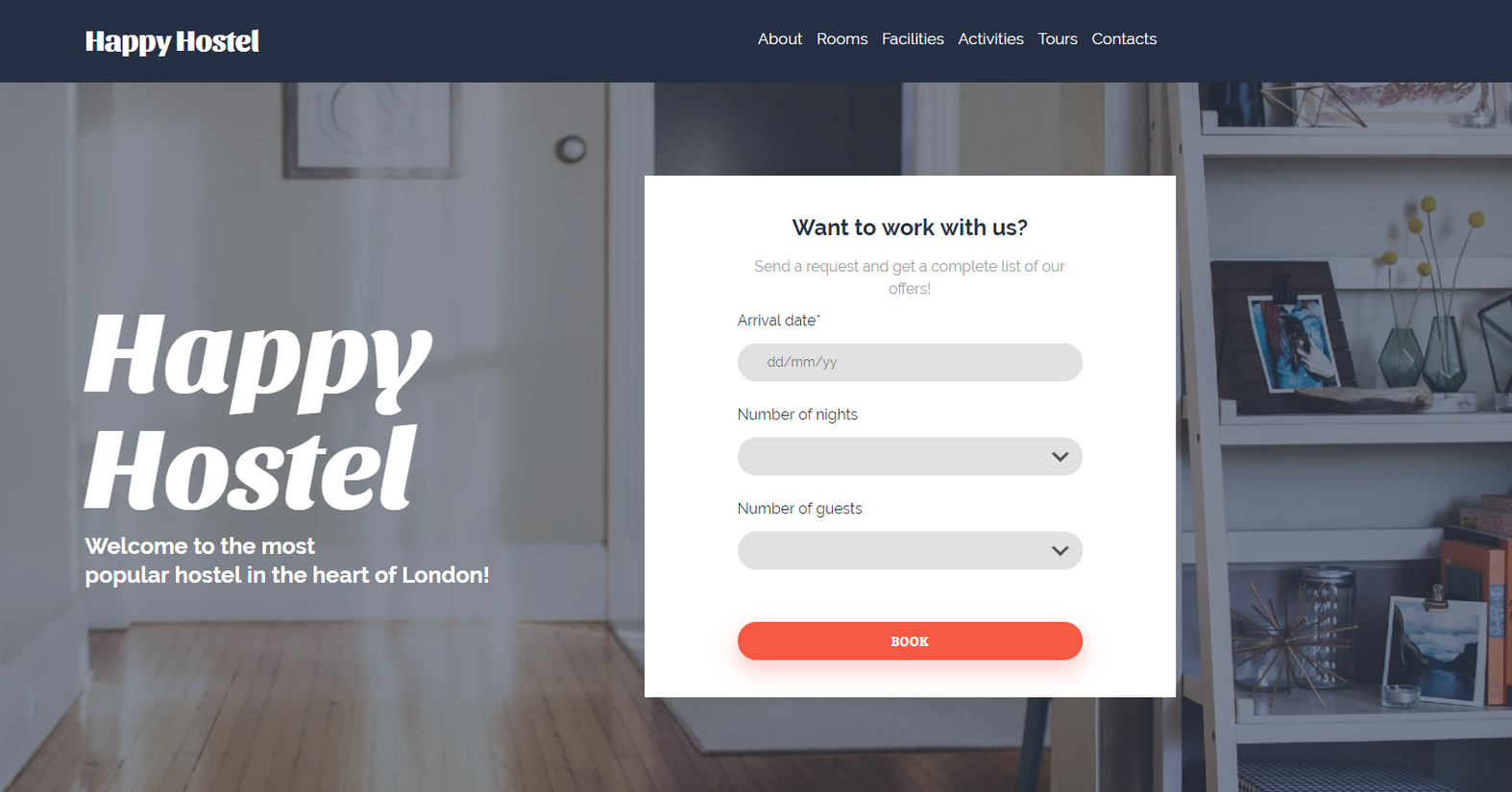 Hostel Website Templates - Weblium
