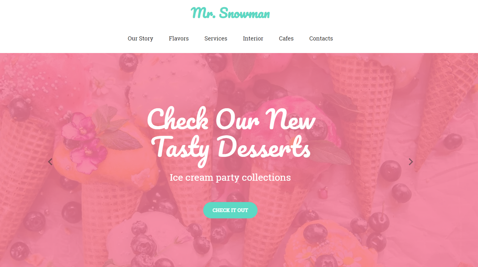 Ice-cream Parlor Website Template - Weblium