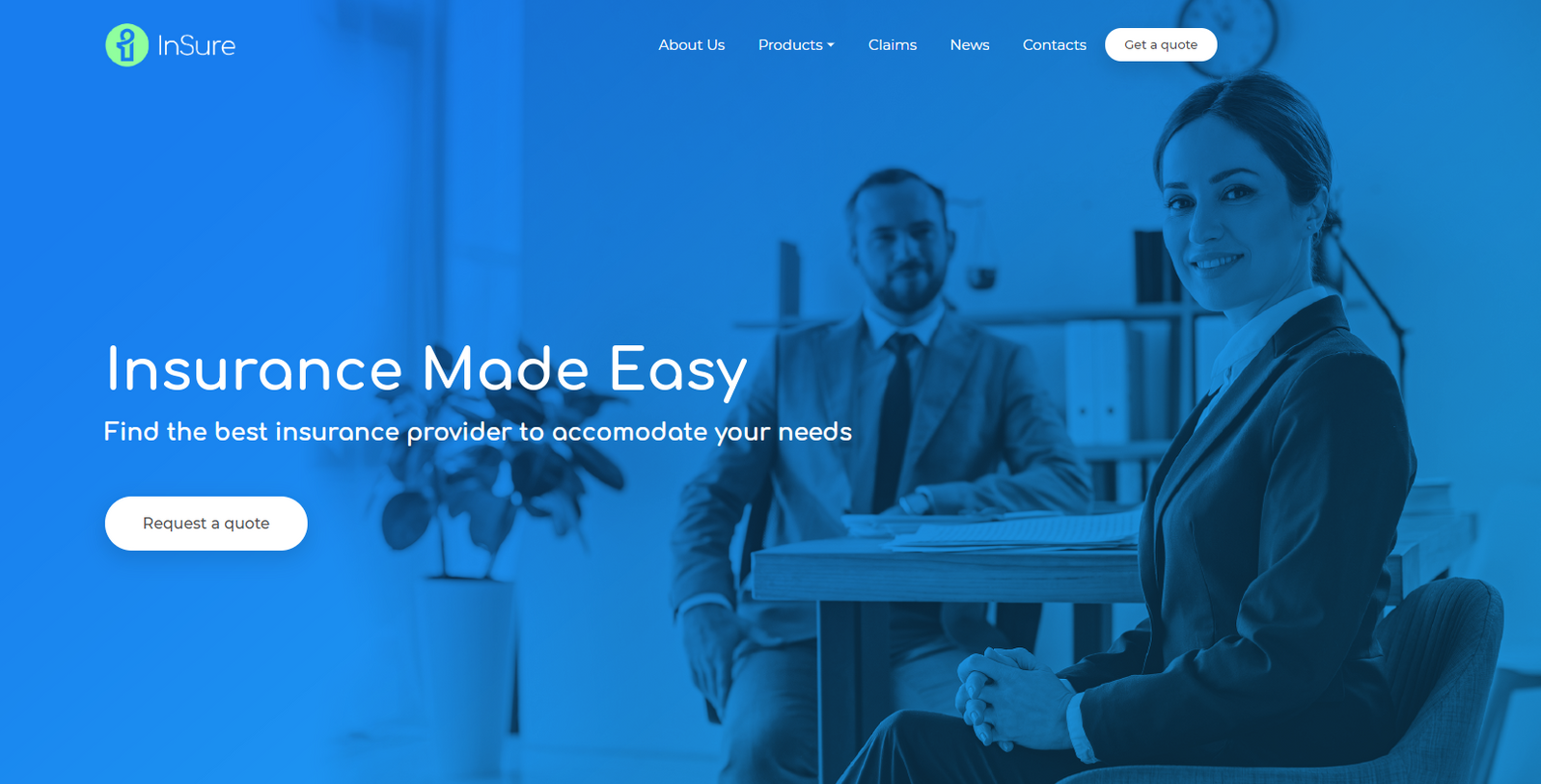 Insurance Company Website Templates - Weblium