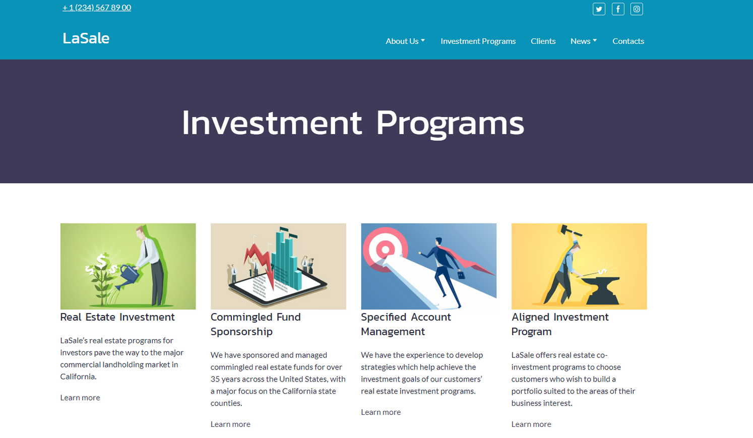 Ivestment Agency Website Templates - weblium