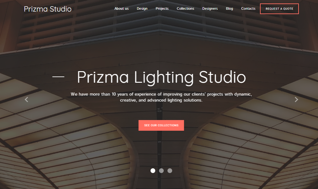 Lightning Studio Website Template - Weblium