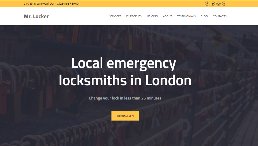 Loksmith Website Templates - weblium