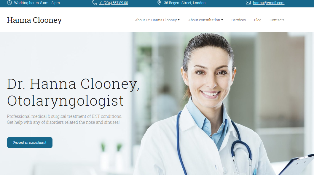 Medical Website Template - Weblium