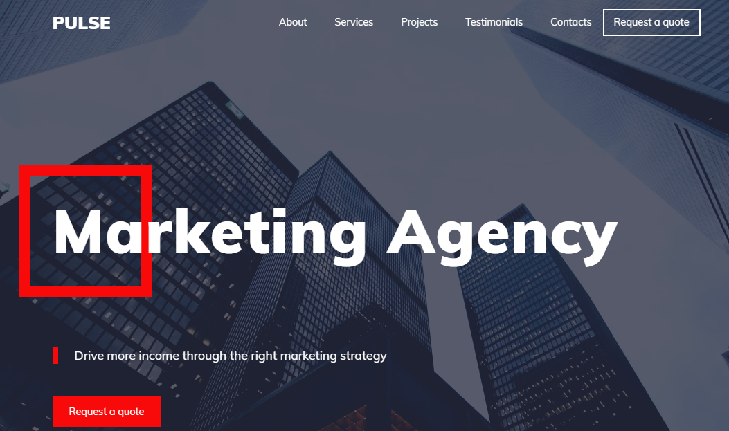 Marketing AgencyWebsite Template - Weblium