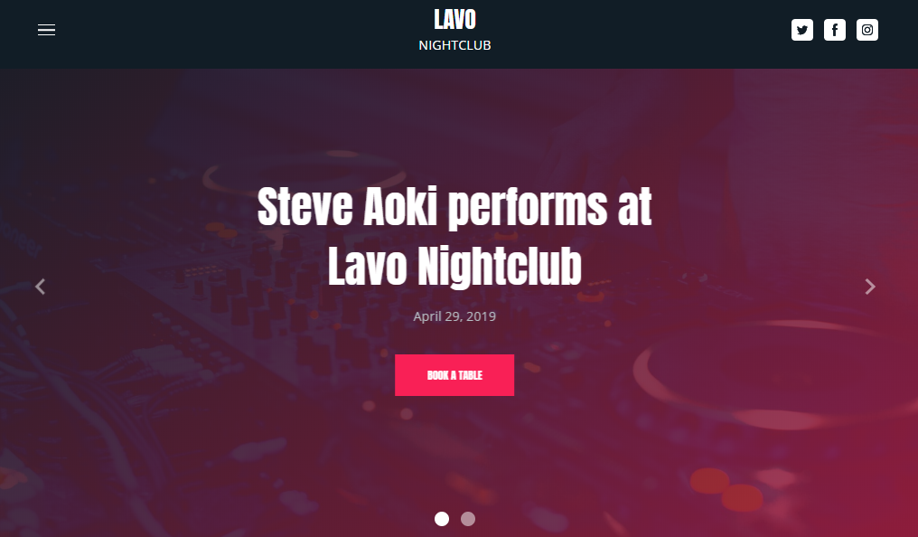 Night Club Website Template - Weblium