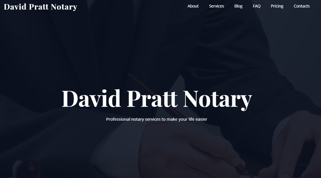 Notary Service Website Templates - weblium