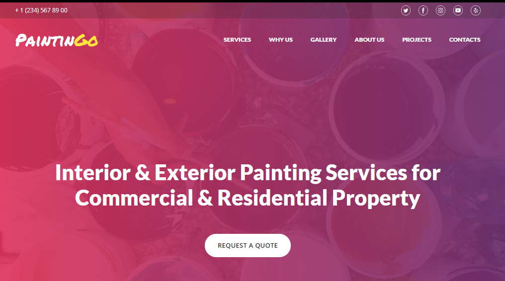 Painting Company Website Templates - weblium