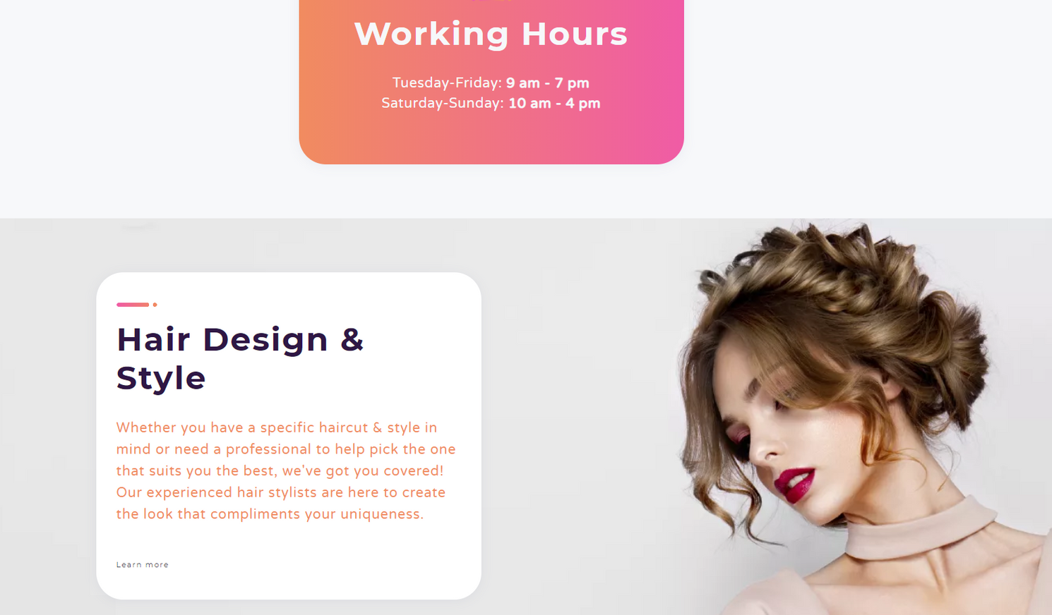 Fashion Website Template - Weblium