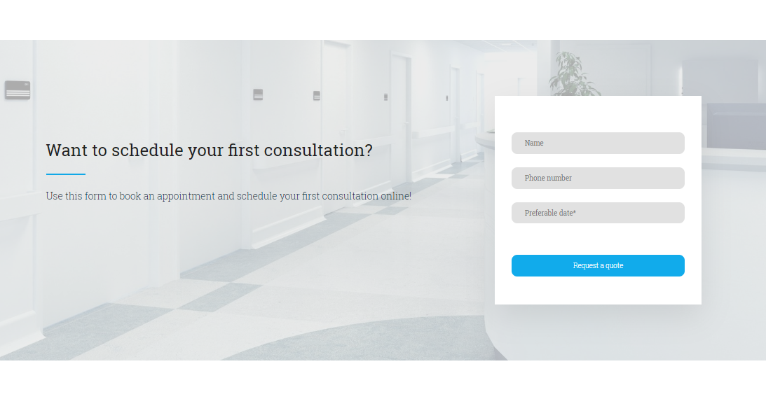 Medical Appointment template - weblium