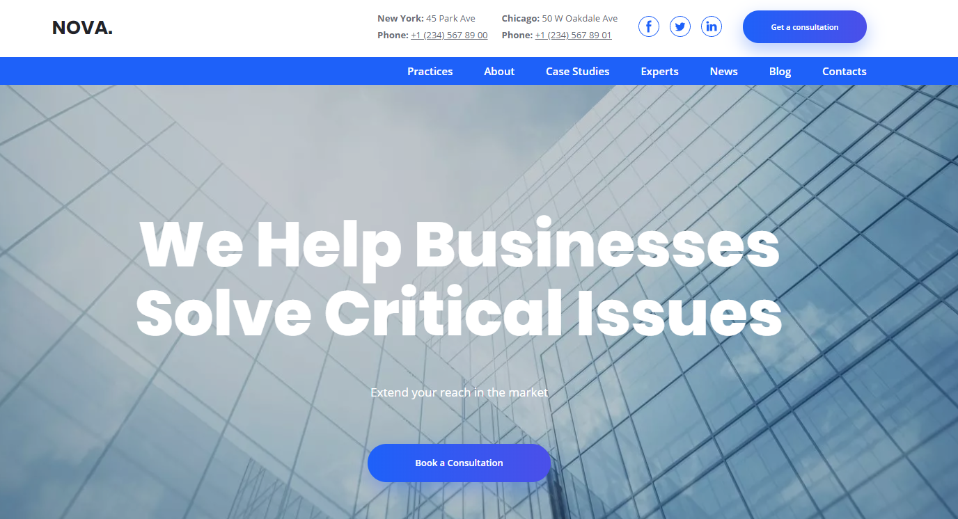 Consulting Website Templates - Weblium