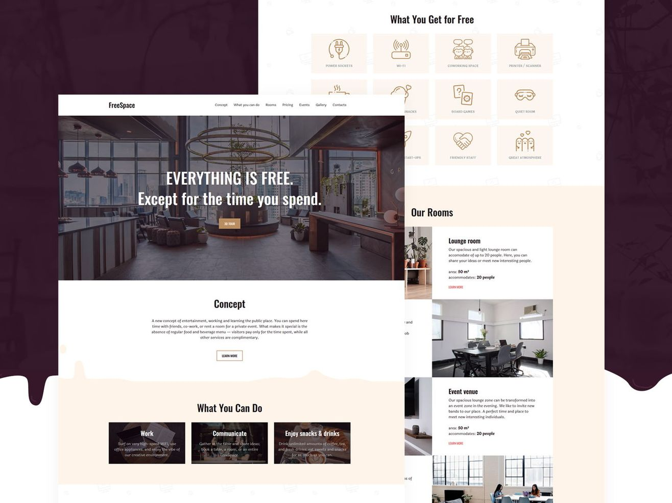 Anticafe template: view demo