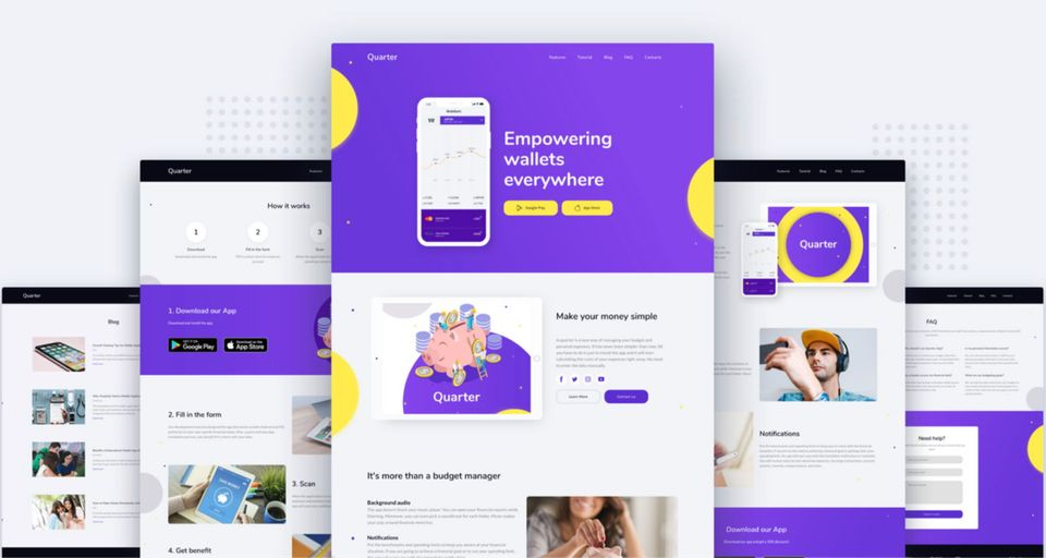 Mobile App Website Templates | Weblium