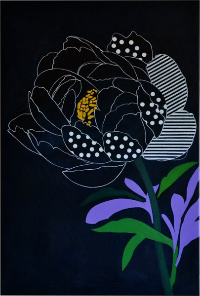 Peony With Lines - painting info page