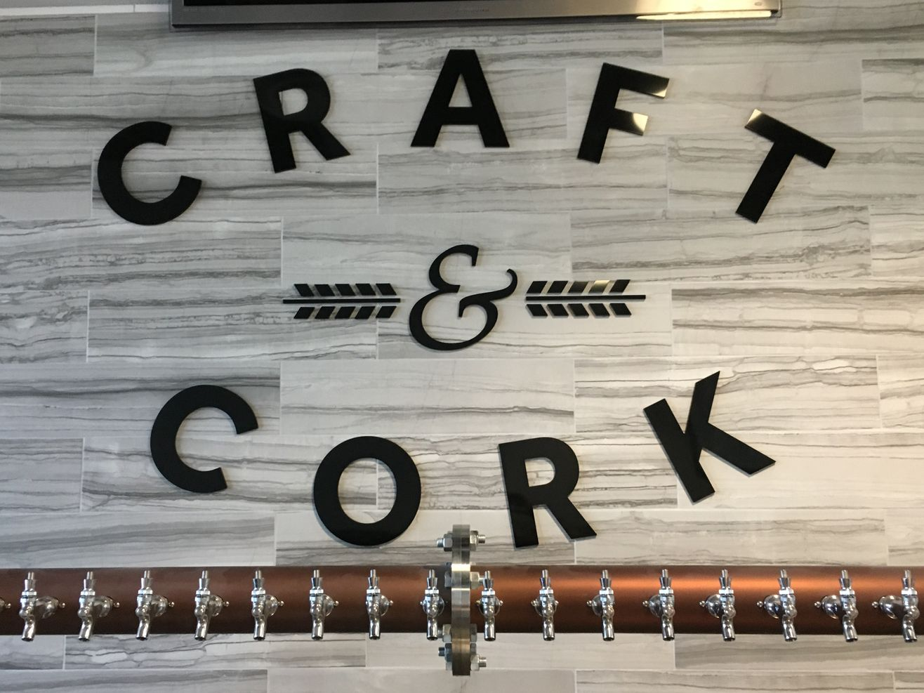 Craft & Cork wall logo