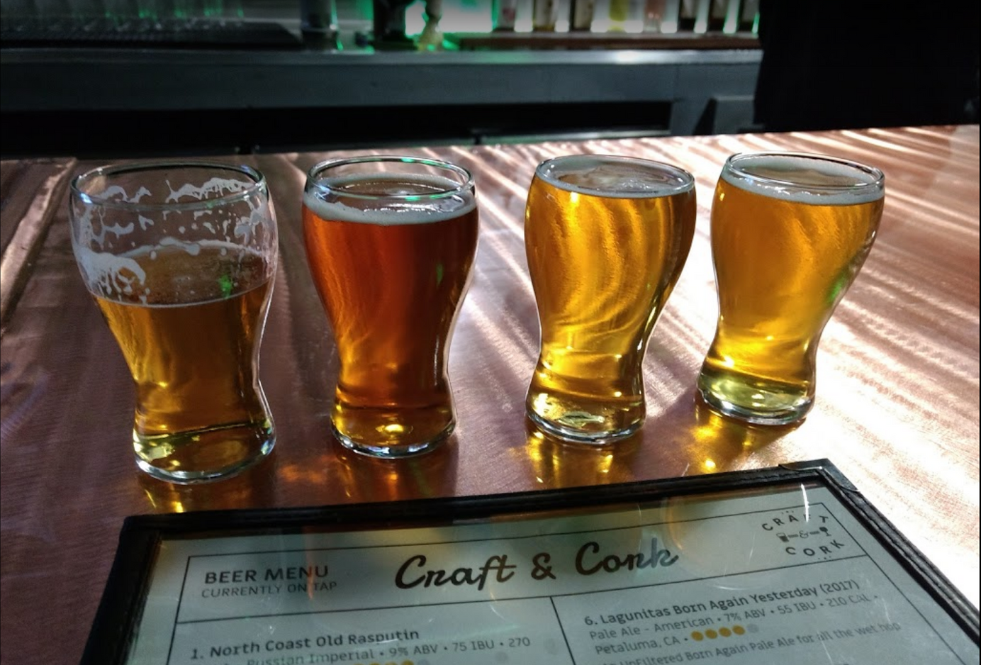 Beer tasting flight