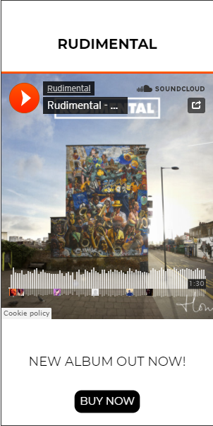 Interactive HTML5 SoundCloud ad