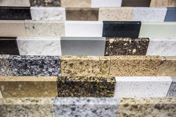Granite worktop samples