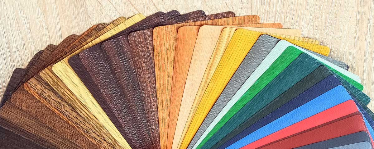 Laminates colour swatch